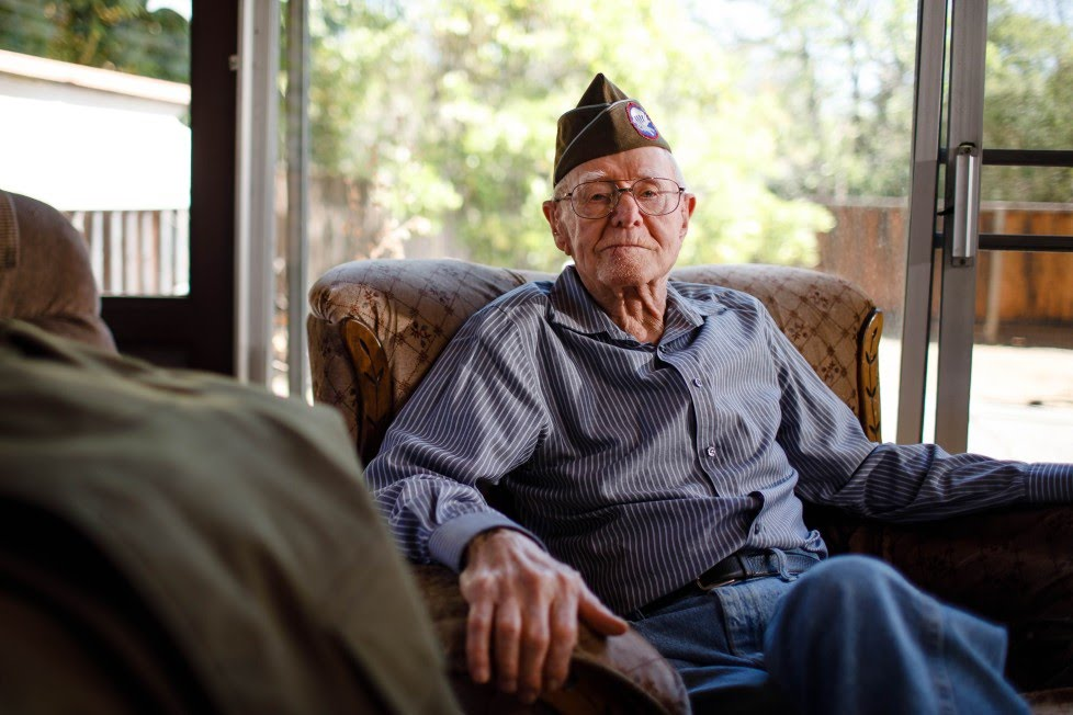 'There aren't many of us left any more'.World war veteran.